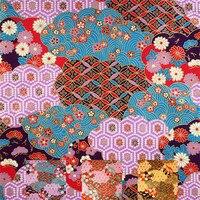 1 Yard Abstract Reactive Print Hot Stamping Japanese 100% Cotton Fabric The Kimono Pajamas Handbag Fabrics DIY Accessories