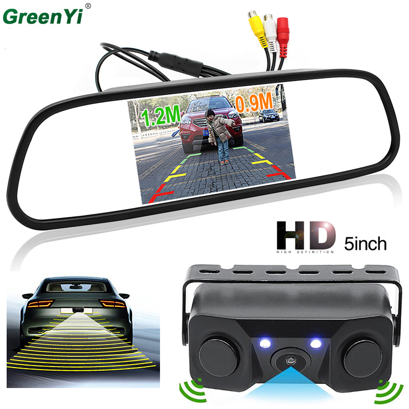 Auto Parking Assistance Car Reversing Radar Rearview Parking Sensors Rear View Camera With 800*480 HD 5 inch Car Monitor auto reversing radar 89341 28480 a0 is suitable for toyota estima parking sensors free delivery