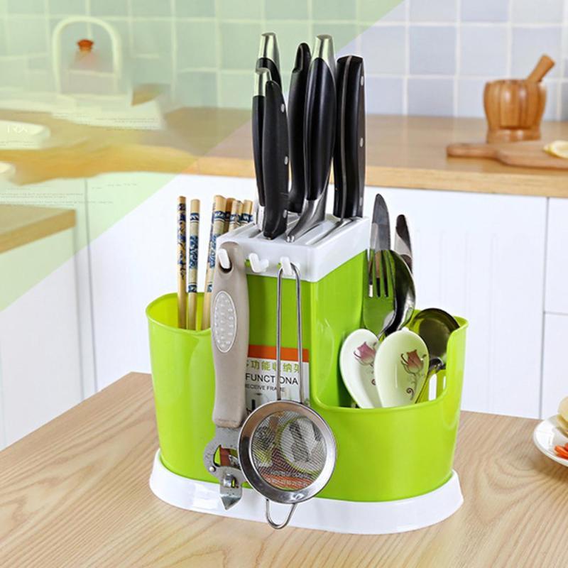 Multifonction En Plastique cuisine Vaisselle Étagères Rack Vidange du Panier à Vaisselle Baguettes Rack De Stockage Pratique En Plastique Couverts plateau V3