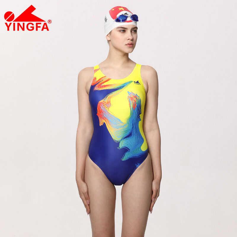 Yingfa 2018 kobiet strój profesjonalny kąpielowy Lady stroje kąpielowe sportowe wyścigi konkurs mocno kulturystyka strój kąpielowy