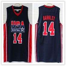 9ded7c799fb 11 Karl Malone 14 Charles Barkley 1992 dream team usa Basketball Jersey  Embroidery Stitched XXS-