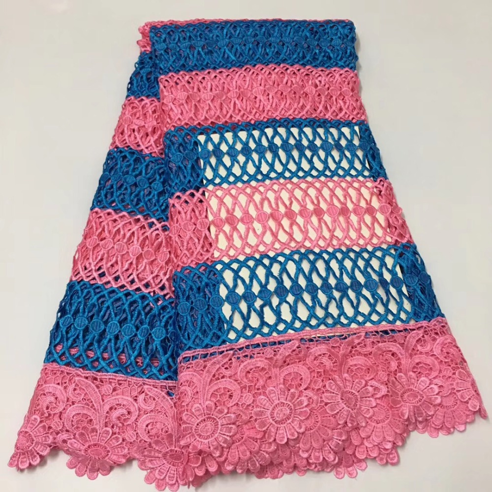 High Quality African Embroidery Lace Fabric Water Soluble African Cord Lace Guipure Lace Fabric