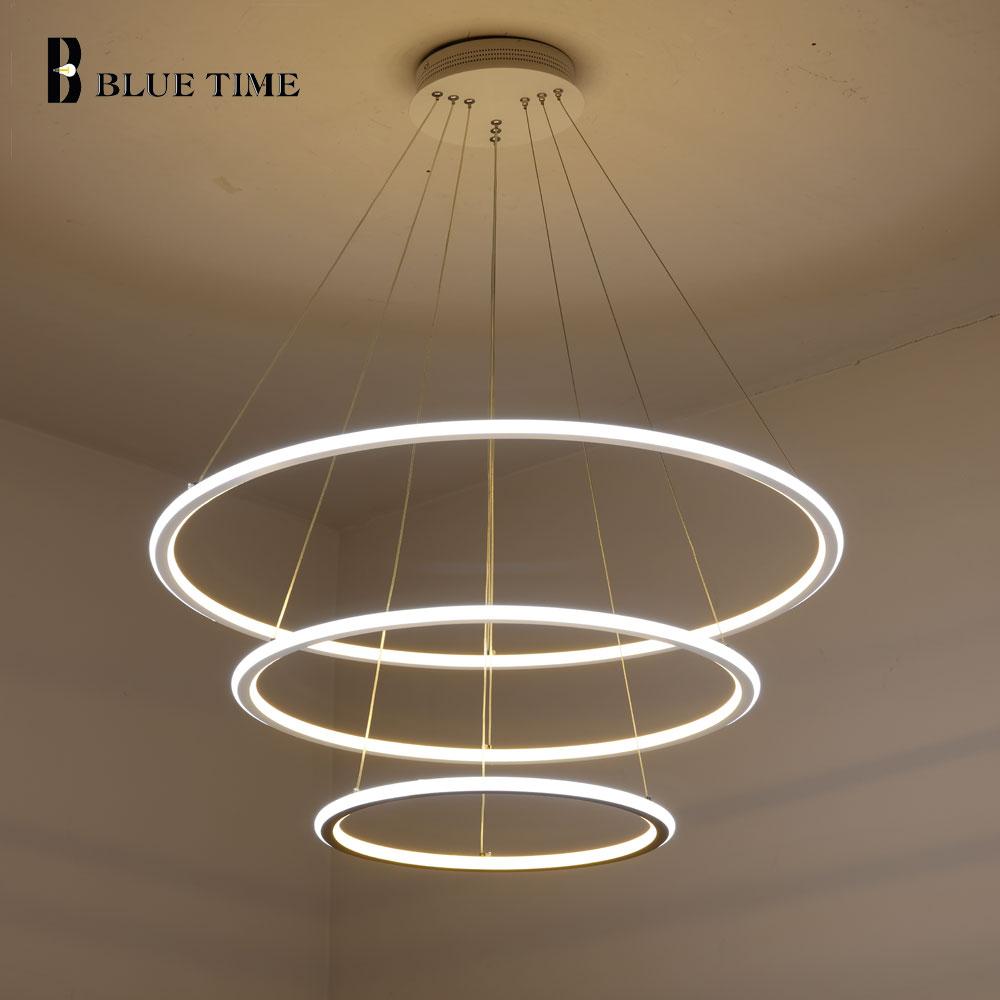 3 Rings Modern LED Pendant Light Hanglamp Acrylic LED Pendant Lamp For Living Room Dining Room Kitchen Bedroom Lighting Fixtures
