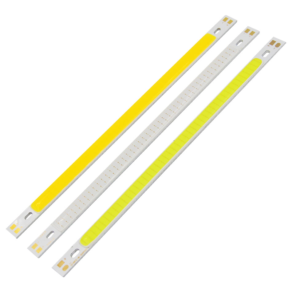 Ultra Bright 12V COB LED Strip Light Source 10W Green Blue Red Yellow White for DIY Car Lamp Indoor Outdoor Lighting 200*10MM hsp high brightness white red blue yellow light 12 led system for 1 10 1 8 r c car