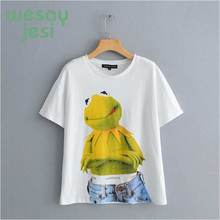 2019summer t shirt women high street animal cartoon printing cute o-neck short sleeve Frog tshirt tops