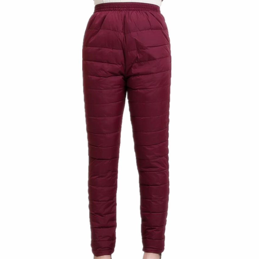 2018 New Women Pants Trousers Winter High Waist Outer Wear Female Casual Straight Warm Thick Duck Down Pants Cold-proof Trousers