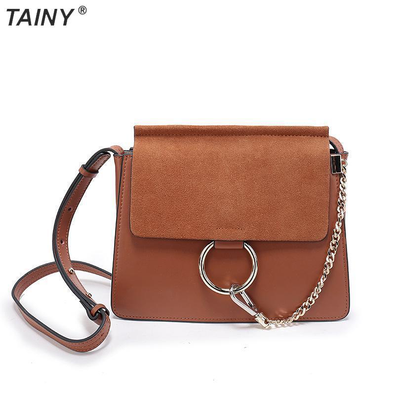 TAINY 2017 New Arrive Split Leather Vintage Cover Messenger Bag Women Bag Size 26*5*22cm
