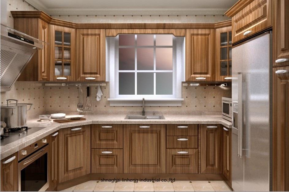 PVC/vinyl Kitchen Cabinet(LH-PV046)