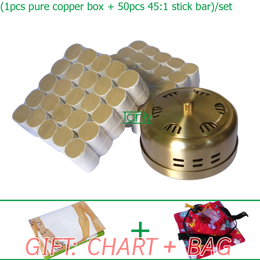 Wholesale and Retail new type thicken pure copper health beauty adjustable hole 45:1 Moxa set wholesale and retail new type thicken pure copper health beauty moxa box moxibustion device