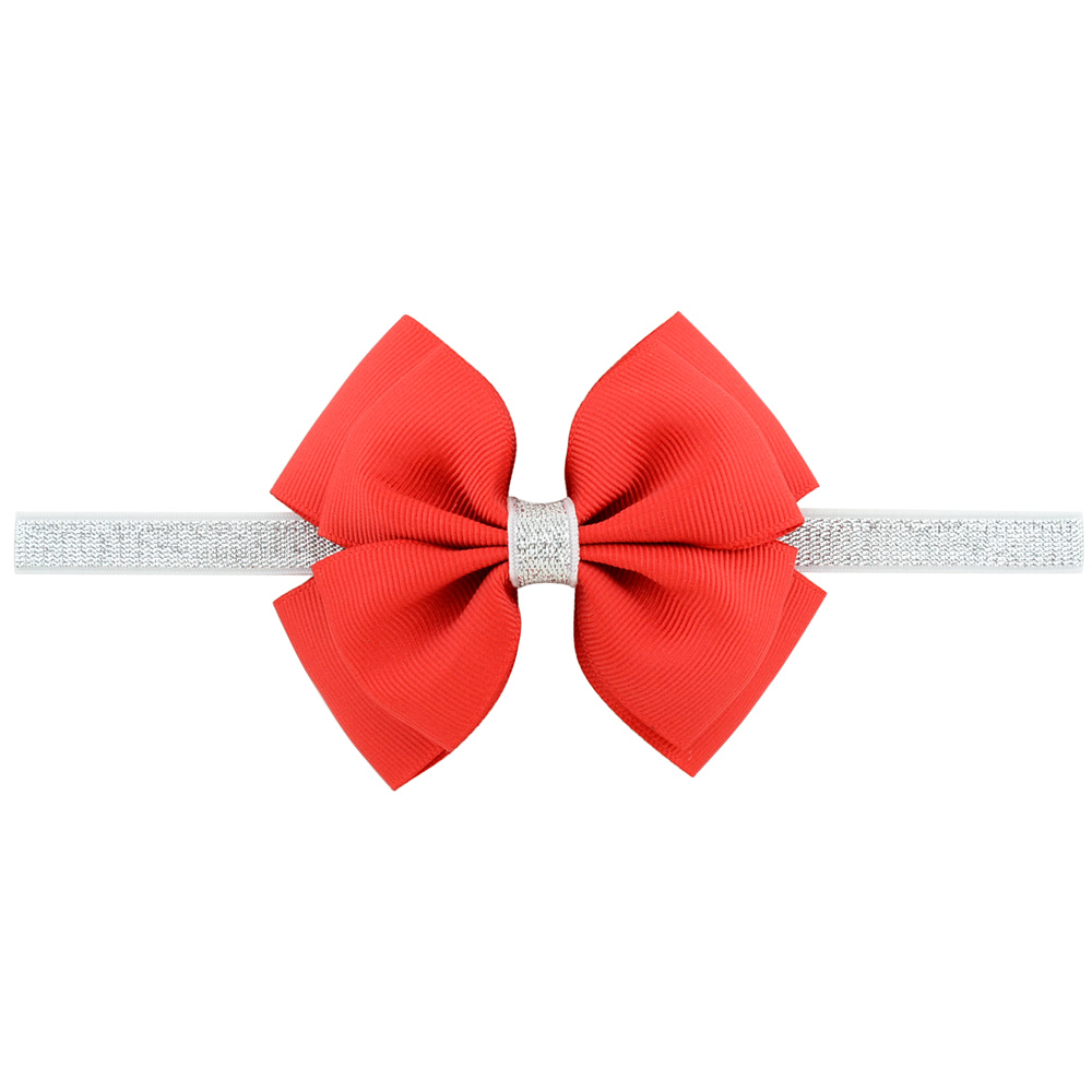 1 piece Sweet Color Kids Bow Headband Silver Ribbon Bows ...  1 piece Sweet C...