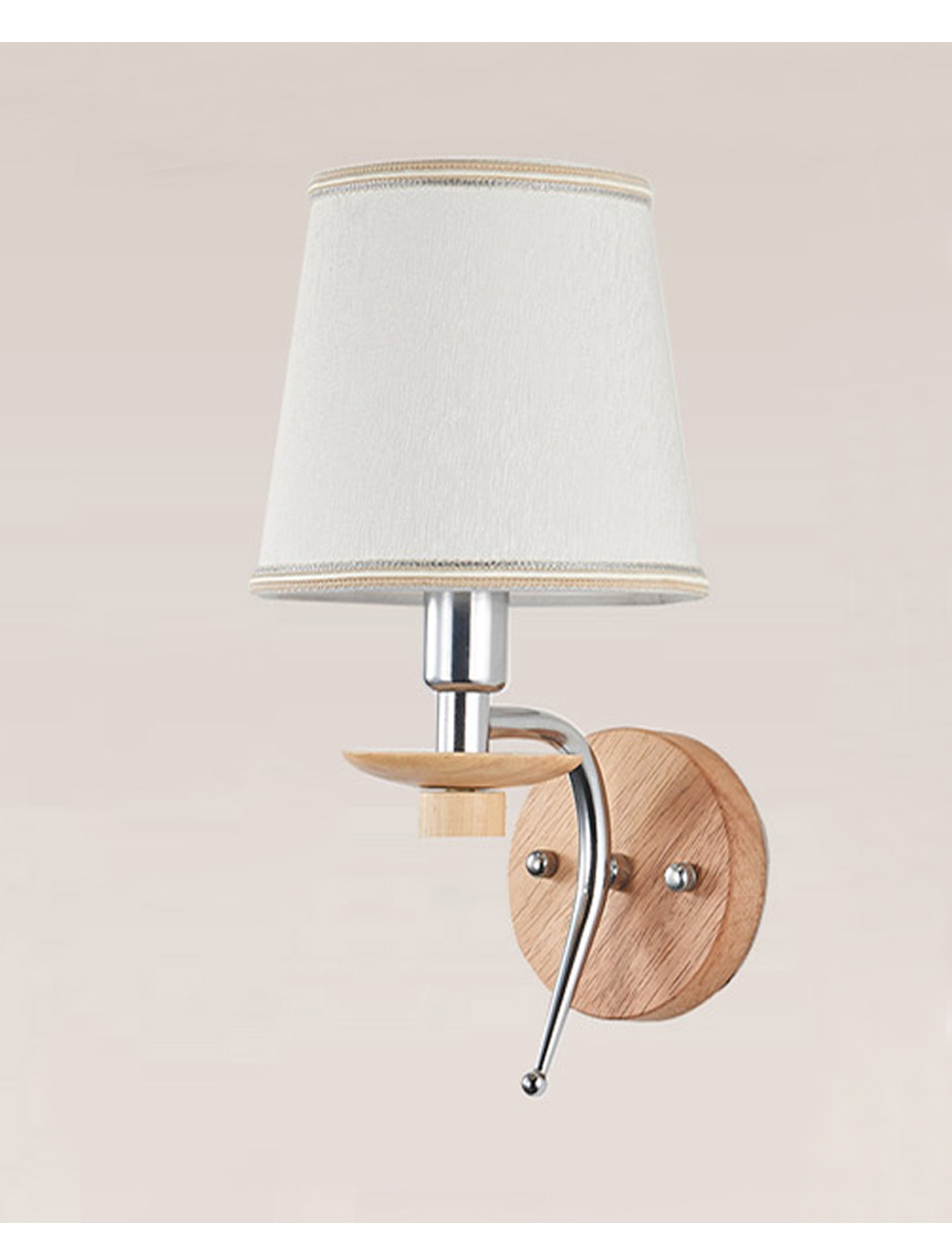 2019 E14 Wall Lamp Aluminum Wood Bathroom Living Room Indoor