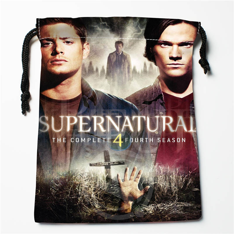 V#bR57 New Supernatural Season Custom Logo Printed  Receive Bag  Bag Compression Type Drawstring Bags Size 18X22cm 7=12JvR57