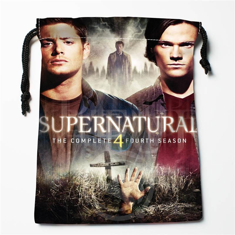 V#bR57 New Supernatural Season Custom Logo Printed  Receive Bag  Bag Compression Type Drawstring Bags Size 18X22cm 7=12JvR57
