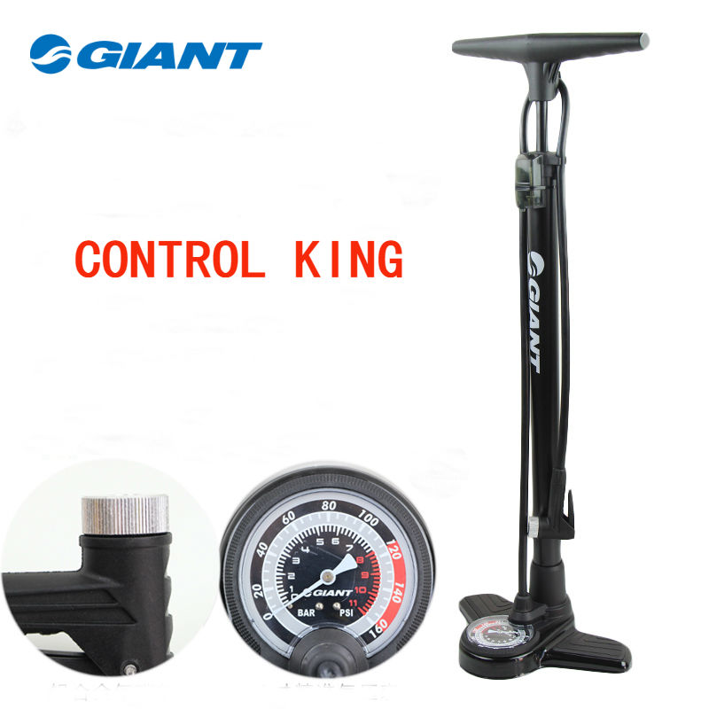 New 2019 GIANT High Pressure Bicycle Air Pump with Gauge Interchangable Valve Cycling Mountain Bike Tire
