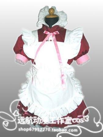 Free Shipping!Tokyo Mew Mew,Power Ichigo Momomiya,Maid Clothing red dress Cosplay Costume ! Acceptable order,performance clothes