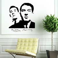THE KRAYS KRAY TWINS RONNIE AND REGGIE gangsters vinyl wall art sticker decal Removable Wallpaper Mural Bedroom home decor D407