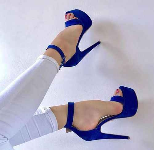 Open Toe Ankle Strap Woman Shoes