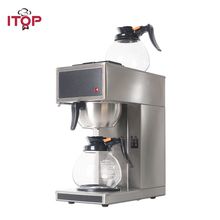 ITOP Automatic Coffee Maker Machine Espresso Coffee Household Electric distilling Coffee Maker WIth 2pcs 1.8L Decanter