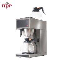 Itop 자동 커피 메이커 기계 에스프레소 커피 가정용 전기 증류 커피 메이커 2pcs 1.8l 디켄터