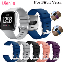 1Pcs Soft Silicone Replacement Sport Wristband accessories Watch Band Strap for Fitbit Versa Bracelet Wrist Watchband S L Size colorful silicone replacement sport wristband watch band strap for fitbit versa band smart bracelet wrist strap s l size