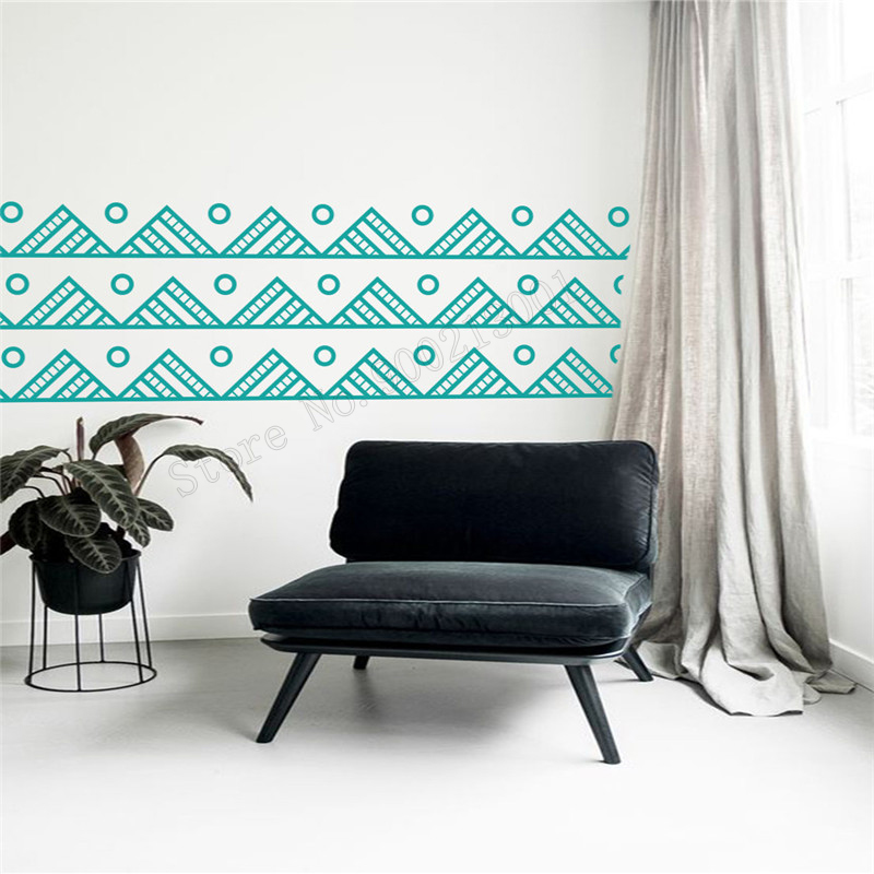 Art  Wall Sticker Mountain Decoration Vinyl Removeable Poster Geometric Modern Decal Beauty Ornament LY190