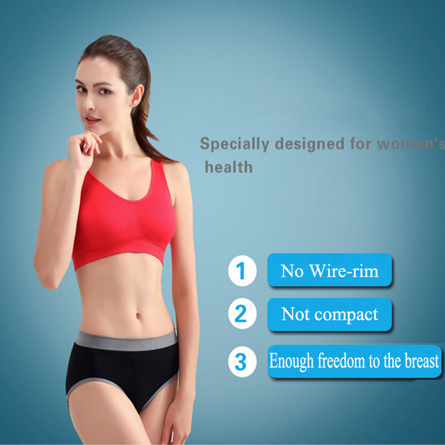NEW Womens Sport Bra Fitness Yoga Running Vest Underwear Padded Crop Tops Underwear 7 Colors No Wire-rim Bras Female