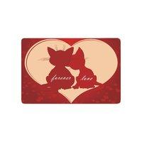 Dia dos namorados Para Sempre O Amor Anti-slip Esteira de Porta Home Decor, Vermelho engraçado Gatos Indoor Ao Ar Livre Entrada Capacho Revestimento Protetor de Borracha