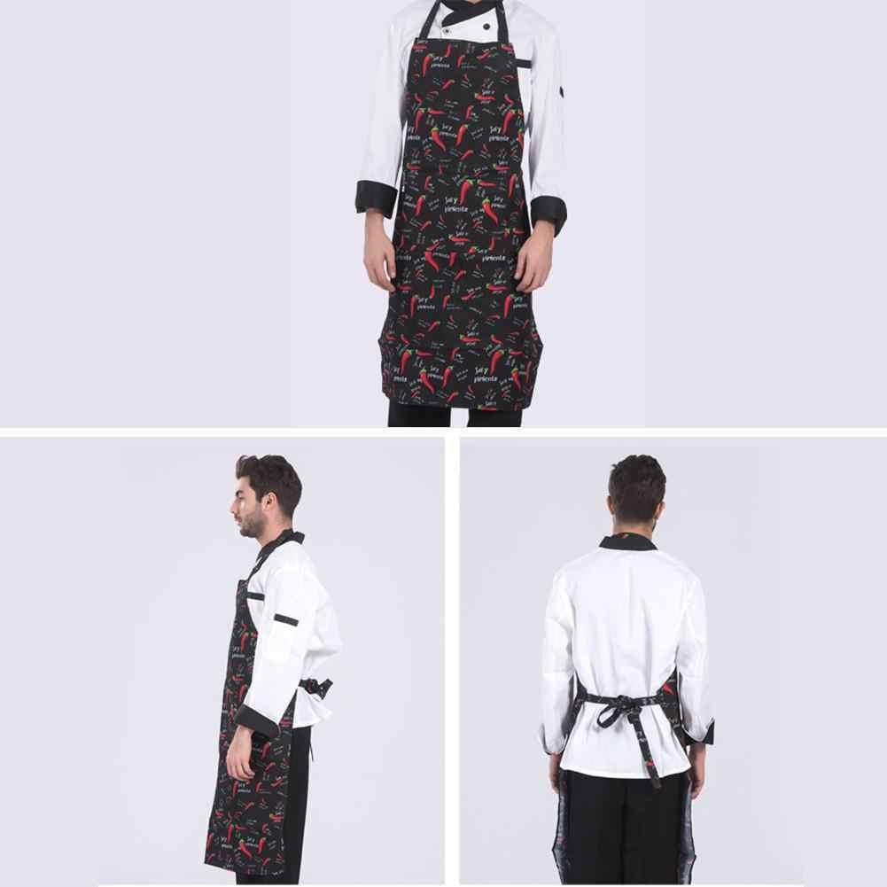 2019 novos homens senhora mulher avental casa cozinha chef aventais restaurante cozinhar cozimento vestido moda avental com bolsos dropshipping