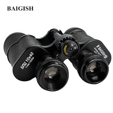 Baigish Russian Military Binoculars 10X40 Professional Telescope High Quality Full metal binocular Lll Night vision for Hunting