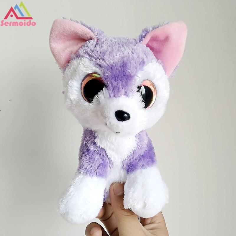 Sermoido 6 Beanie Боос Гладкий фиолетовый Фокс плюшевые шапочка Детские плюшевые игрушки куклы Коллекционная мягкая Игрушечные лошадки для детей