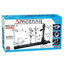 SpaceRail Level 1 5000mm Marble Roller Coaster Steel Balls Spacewarp Glow Illuminate Choose