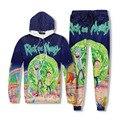 Warm Hoodie 3D Print Rick and Morty Men Sweatshirt Joggers Tracksuit Fashion Wear Moletom Jumper Tops sudadera hombre