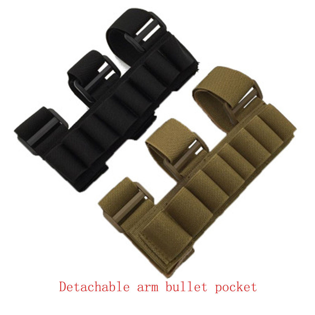 Tactical Military Outdoor Hunting 8 Rounds Ammo Shotgun Shell Holder Forearm Carrier Shooter Sleeve Nylon Pouch