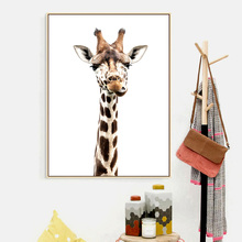 Animal Prints Giraffe Nordic Posters And Prints Wall Art Canvas Painting Nursery Art Prints Wall Pictures For Living Room Decor prints