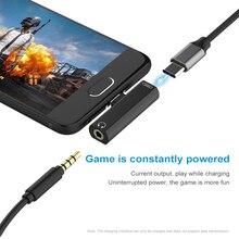 2 в 1 Тип C Аудиоадаптер Mini Type-C в 3 5 мм Разъем Конвертер USB-C Зарядный кабель для Samsung