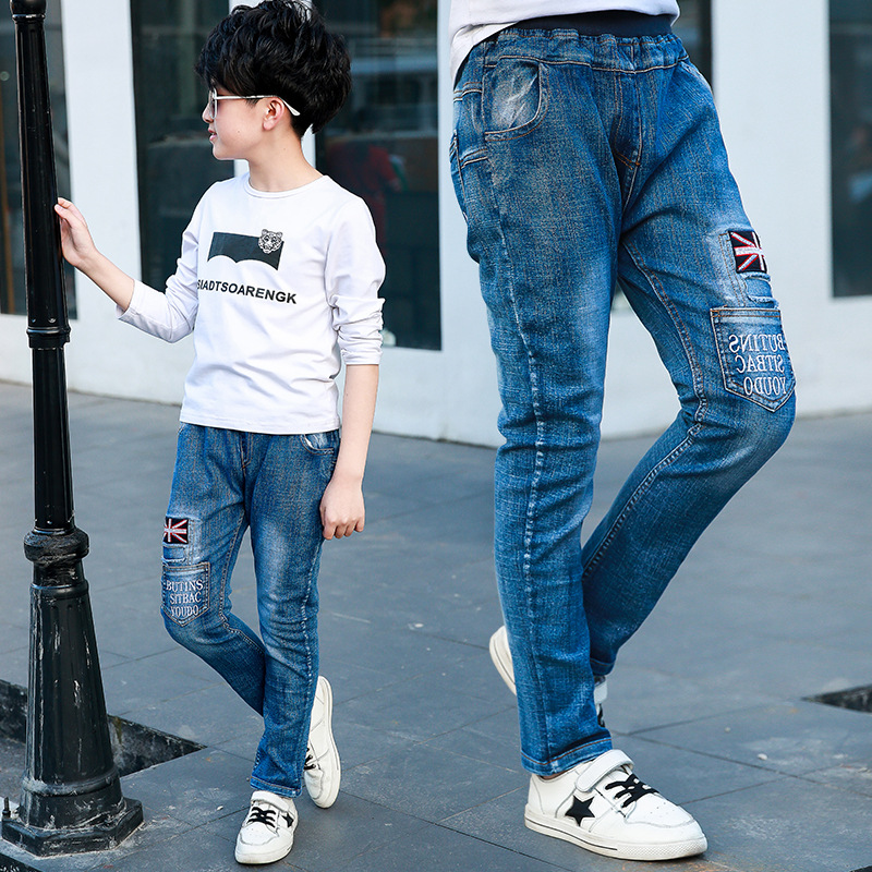 Autumn Children's Clothing Boys Jeans For Boys Spring Baby Jeans Boys Kids Pants Boutique Children Trousers children s clothing male child jeans trousers spring autumn child jeans big boy letter print jeans trousers casual pants 4 14y