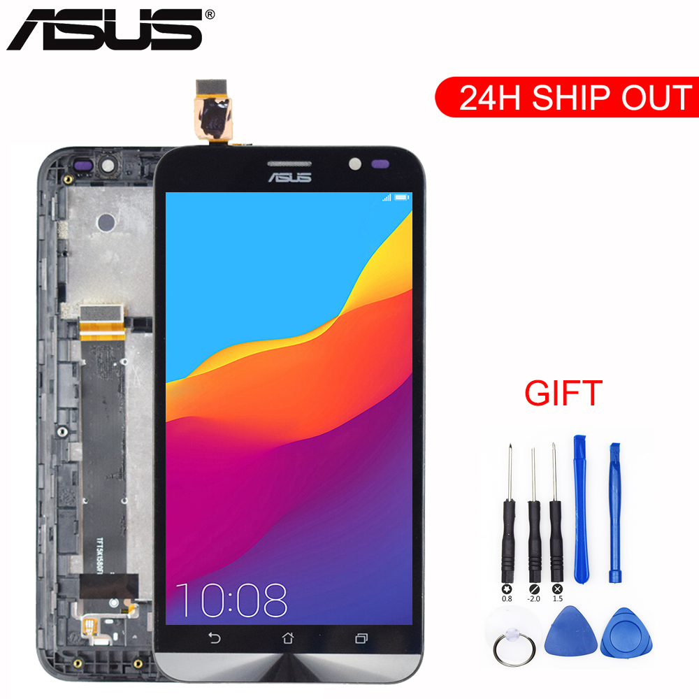 Original 5.5'' For ASUS Zenfone Go TV <font><b>ZB551KL</b></font> LCD <font><b>Display</b></font> X013DB TD-LTE Touch screen with Frame Digitizer Assembly Replacement image