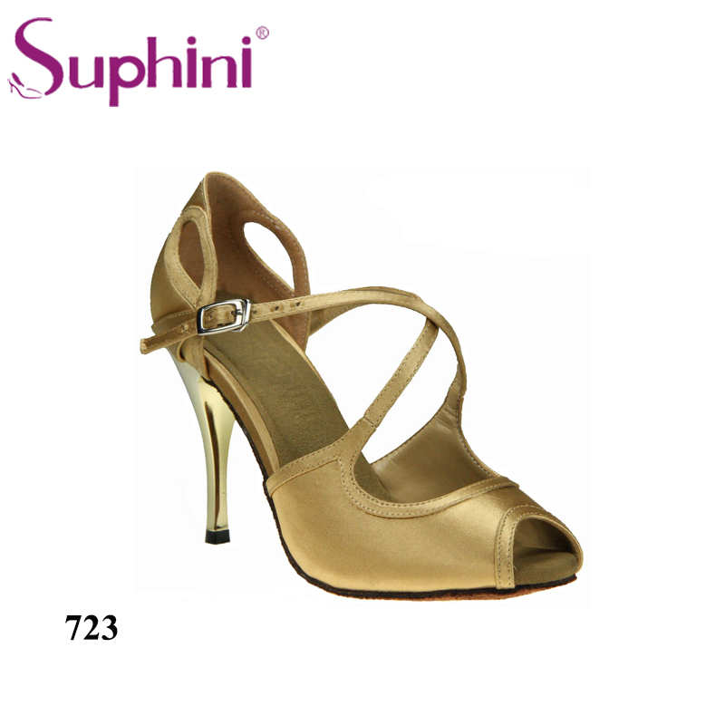 Free Shipping Suphini Wedding Party Shoes Satin Woman Ballroom Suede soleTango Dance Shoes Zapatos De Baile Latino цена
