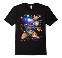 Funny Personality Tee Shirts T Shirts Men Solar System Planets High Quality For Man Better