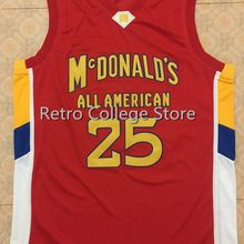 daf27744c9a #25 DERRICK ROSE Dolphins McDonald ALL AMERICAN Men's Basketball Jersey  Embroidery Stitched Customize any name