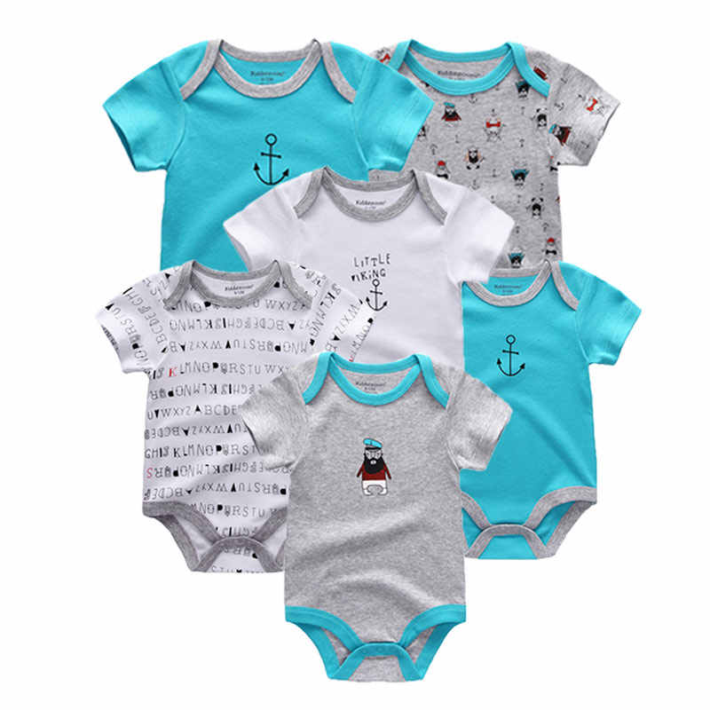 82198beacaba 6 PCS lot newbron 2018 summer short sleeve baby rompers cotton baby  jumpsuit girls ropa