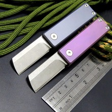 лучшая цена Newest serge Mini Folding Knife M390 Blade Titanium Alloy Handle Tactical Survival Pocket Knives Camping Hunting Key EDC Tool
