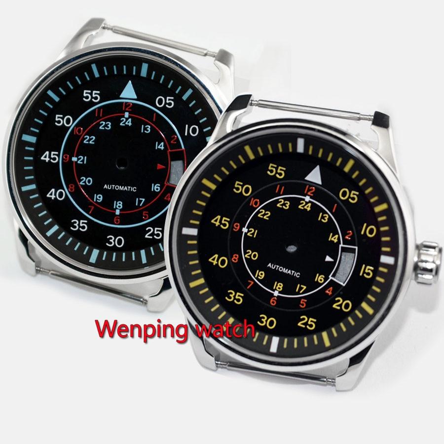 47ce94a5a55 Caixa de relógio de aço ASSISTIR ACESSÓRIOS 44mm + Ajuste de Marcação  DG2813 3804