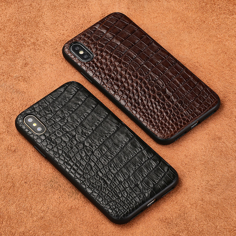 For iPhone X case Really Crocodile skin all inclusive shock resistant back cover For Apple 6