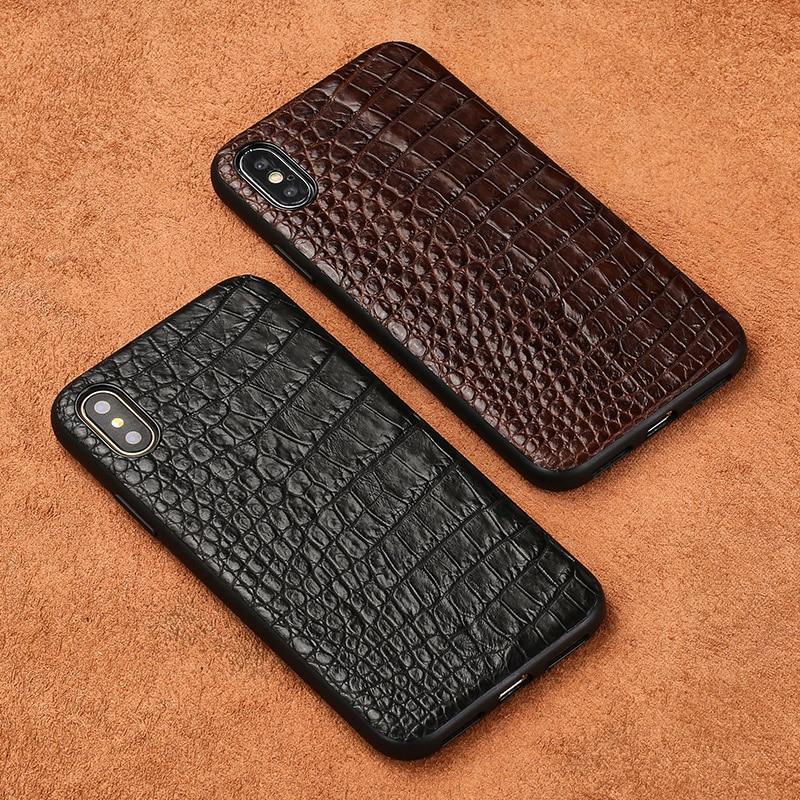 Pour iPhone X cas Vraiment Crocodile peau tout compris choc-résistant couverture Pour Apple 6 6 s 7 8 Plus Xs Max XR logement de téléphone