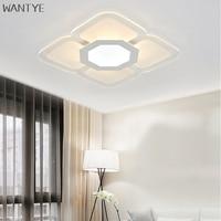 Ультра тонкий светодиодный площади поверхности потолка свет установлен современный потолочный светильник минималистский гостиной Спальн