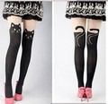 2016 new Summer girl lolita Pantyhose Cat Head And Tail Tattoo Tights Women Sexy Pattern Tight Cheap Wholesale