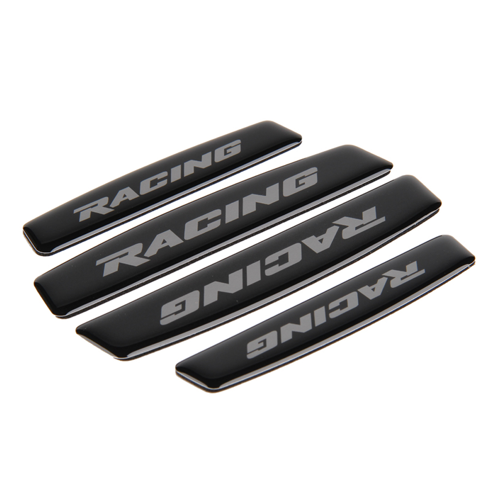 Car Styling Car Door Bumper Strips Anti Scratch Sticker For Racing Logo For Ford Mustang Fiesta Focus VW GTI Golf Hyundai Mazda