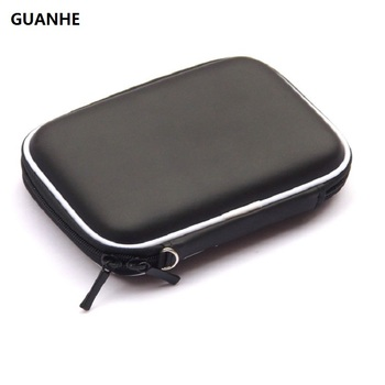 GUANHE PU waterproof External Hard Drive Disk Portable Zipper Case Bag Pouch Protector For 2.5″ WD Seagate
