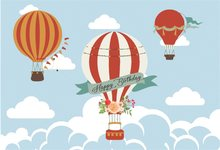 0f2c2f9dcf Laeacco Cartoon Hot Air Balloons Birthday Baby Child Photography  Backgrounds Customized Photographic Backdrops For Photo Studio